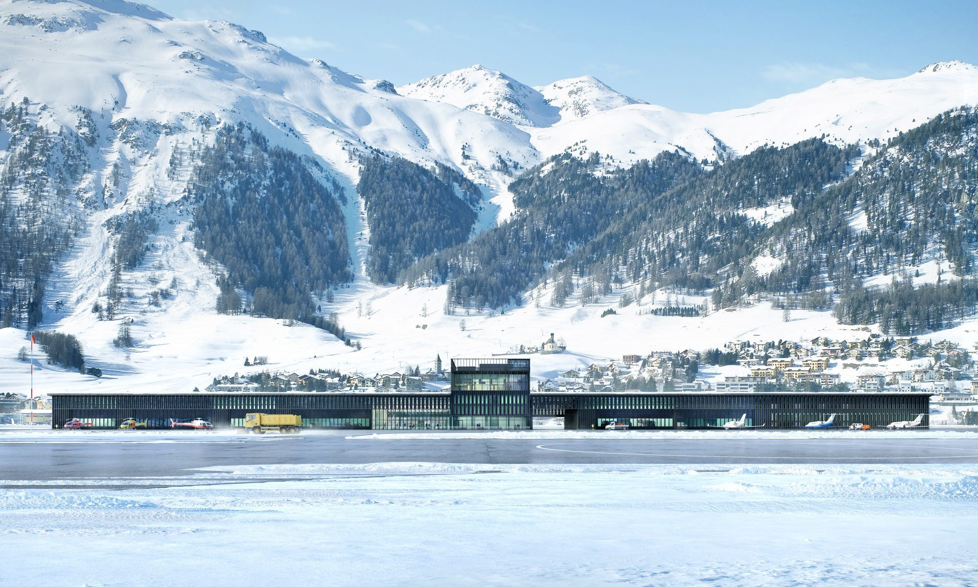 "The Samedan Regional Airport, ""Engadin Airport"" is Europe's highest airport. Photo: Samedan Regional Airport."