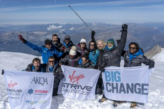 Sir Richard Branson and the core team on the summit of Mont Blanc (Picture: PA) Nepal Herald