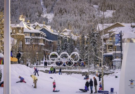 Evening activities in the village in Whistler Blackcomb. Photo: Paul Morrison. Whistler Blackcomb. Vail Resorts. New investments in Whistler Blackcomb to enhance the guest experience will be ready for the 2018-19 ski season.