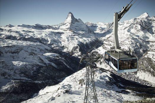The Matterhorn, seen from Zermatt. Matterhorn Paradise photo. Rothorn.  Ikon Pass to include Zermatt and Cervinia for the 2019/20 ski season.