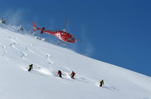 Heli-skiing in Zermatt. Air Zermatt. Photo courtesy Zermatt Tourism Office.
