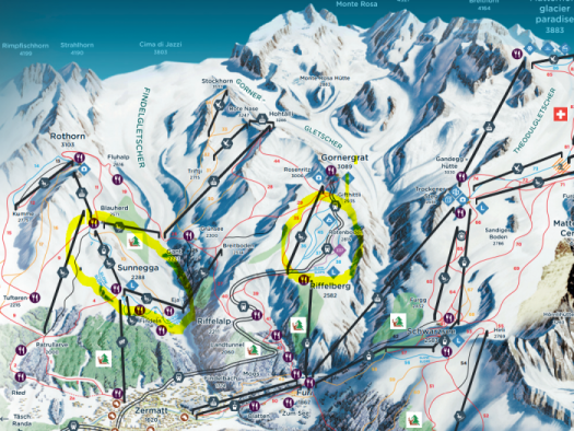 Zermatt Intermediates map.