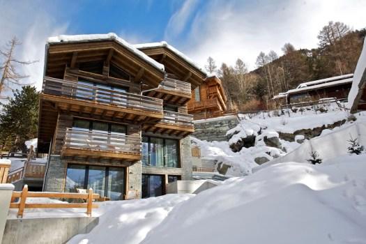 Exterior of the Cervo Zermatt cabins.