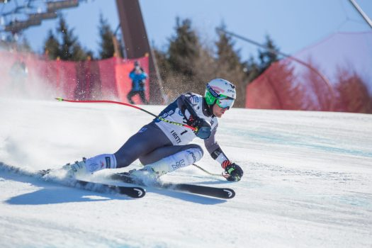 Alpe Cimbra will be the training grounds of the US Ski Team for the next four years. Photo Ted Ligety. Salizzona piste.