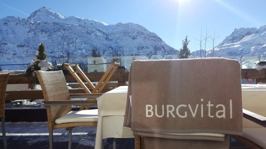 The terrace at the Burg Vital. The Must-Read Guide to Lech.