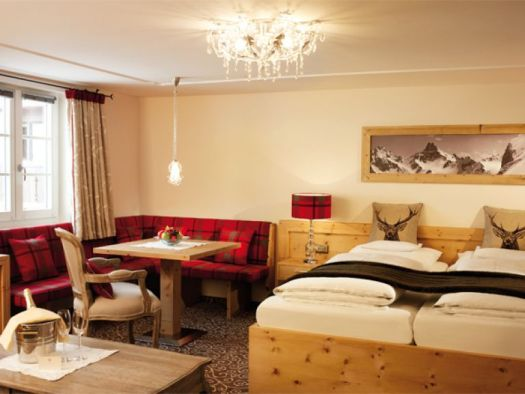 One of the modernised rooms at the Romantik Hotel Die Krone von Lech. The Must-Read Guide to Lech.