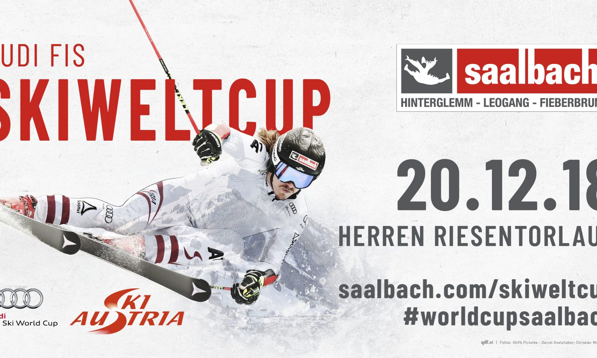 Audi FIS Ski World Cup Saalbach. Ski World Cup: Saalbach is in the Starting Gates. Copyright: © nill.at; GEPA Pictures - Daniel Goetzhaber; Christian Wöckinger.