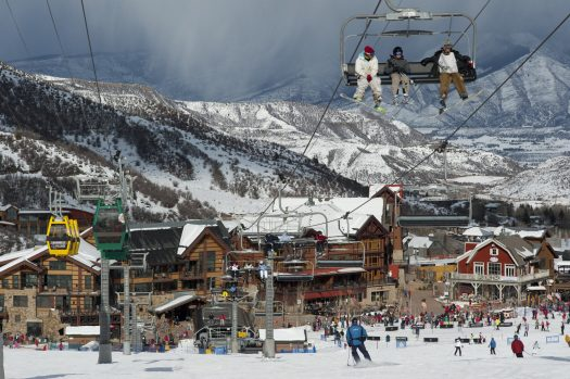 Coming up from Snowmass Village- lots of terrain to ski, Snowmass is very wide and have lots of options to keep you entertained. Snowmass Opens Thanksgiving Day with 570 Acres of Terrain. Photo: Aspen Skiing Company.