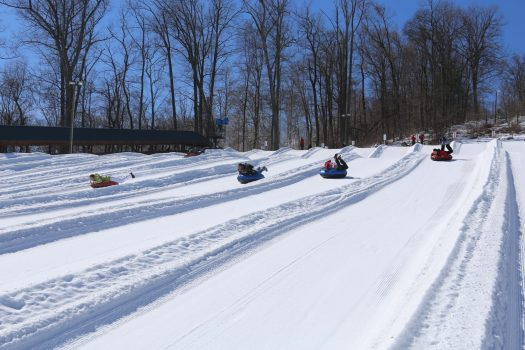 Tubing down the slopes. Peak Resorts Completes Acquisition of Snow Time. Peak Resorts photo.