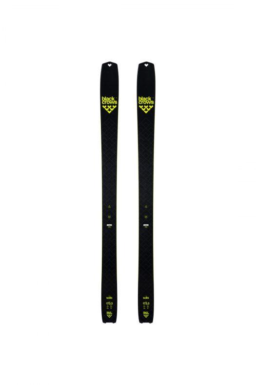 Solis - top of skis. Black Crows skis for the 2018/19 ski season.