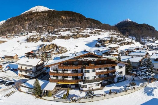 Hotel Erhart in winter. Ski this Easter with your family in 'snow sure' Obergurl-Hochgurgl and Sölden with The-Ski-Guru TRAVEL.
