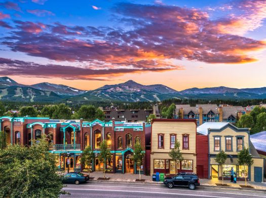 Town at Sunset in Breckenridge, CO. Photo: Jeff Andrew. Vail Resorts. Vail Resorts Ceo Rob Katz Gives $2 Million in Grants to Support Mental & Behavioral Health Programs in Mountain Resort Communities across North America.
