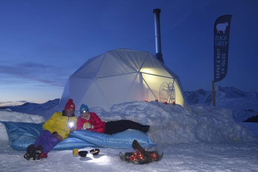 Igloo at La Plagne- Ph. Royer. What is new at La Plagne for the 2018 – 19 ski-season.