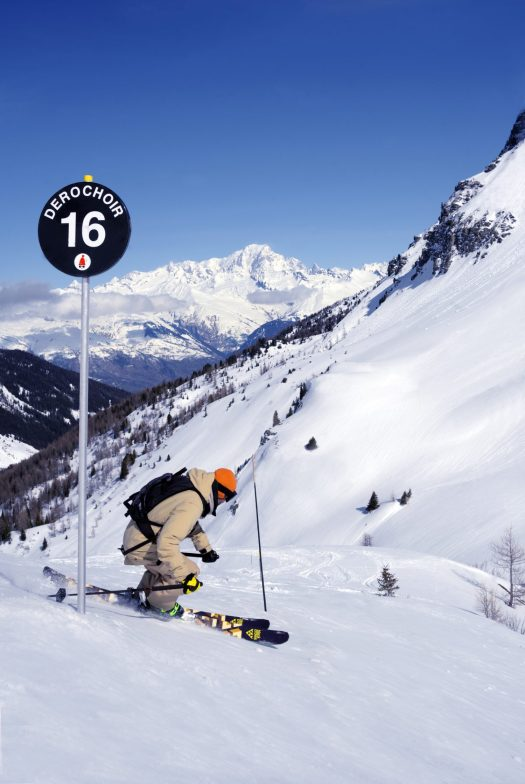 Black piste, Le Dérochoir. La Plagne. What is new at La Plagne for the 2018 – 19 ski-season.