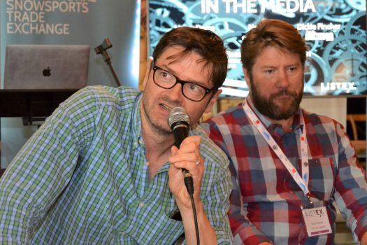The media panelists discuss a topic at Listex. Listex's State of the UK Snowsports Market Report 2018.