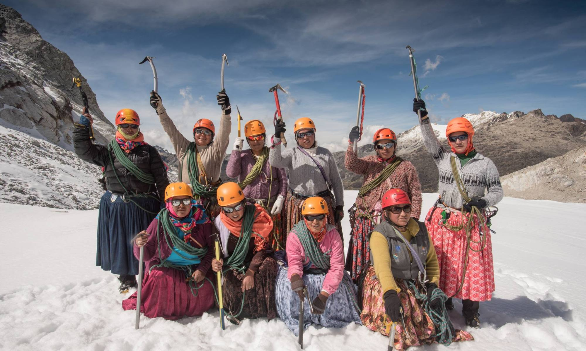 "The ""Cholitas Escaladoras"" (Climbing 'Cholitas') are going for Everest. Facebook page photo."