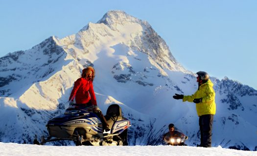 A snowmobile in Les 2 Alpes. Photo by B. Longo. Les 2 Alpes. What is New at Les 2 Alpes this season.