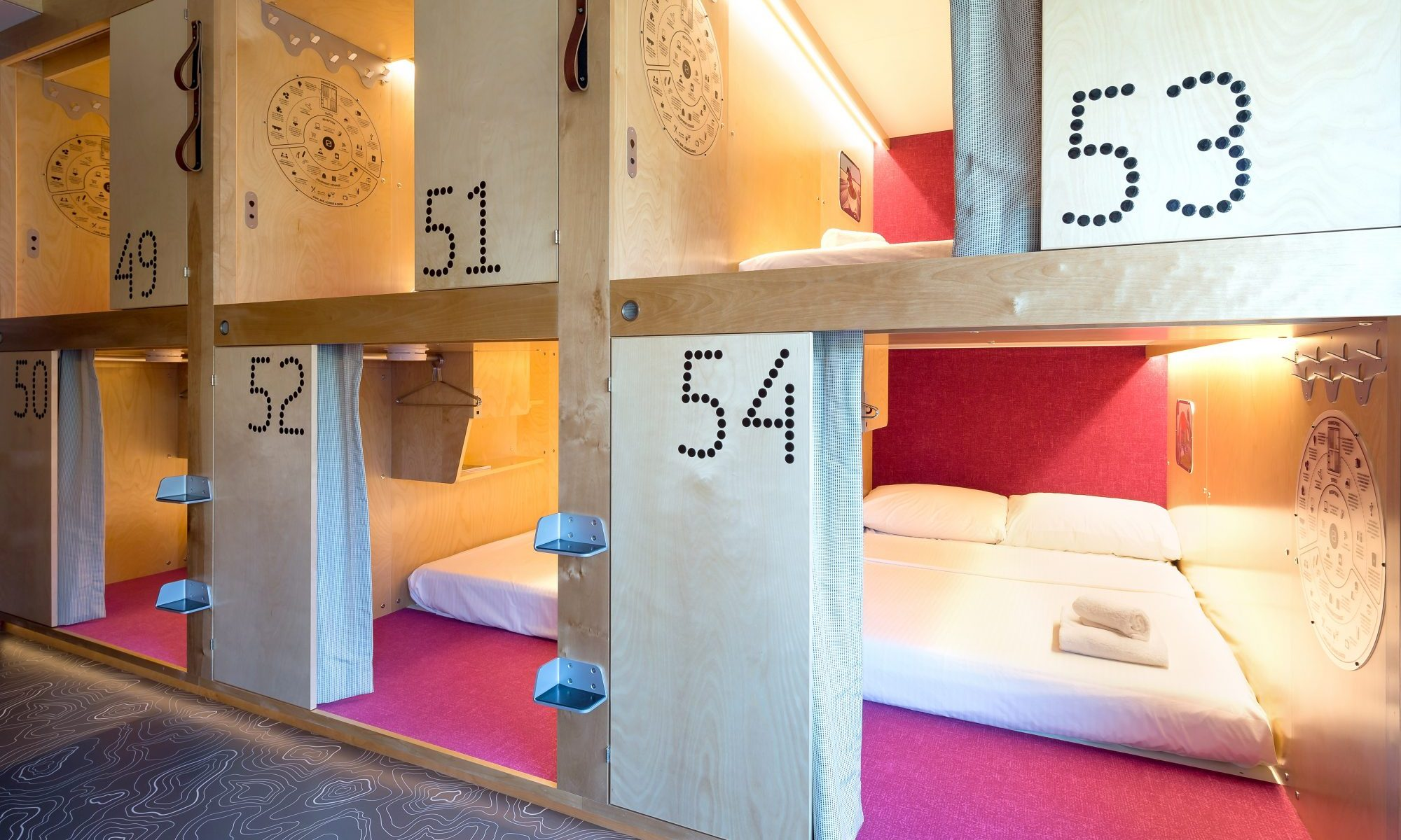 Pods from Pangea Pod Hotel. Wanting to Ski in Whistler but on a Budget? Why not stay at the Pangea Pod Hotel?