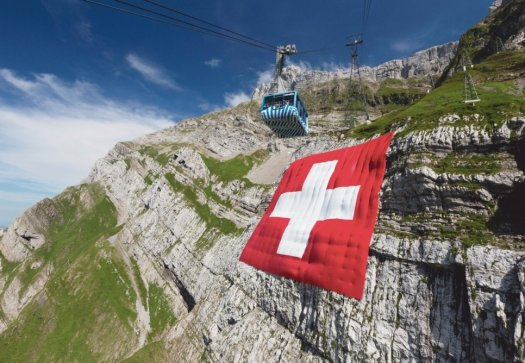 An avalanche affected the structure of the Säntis suspension railway