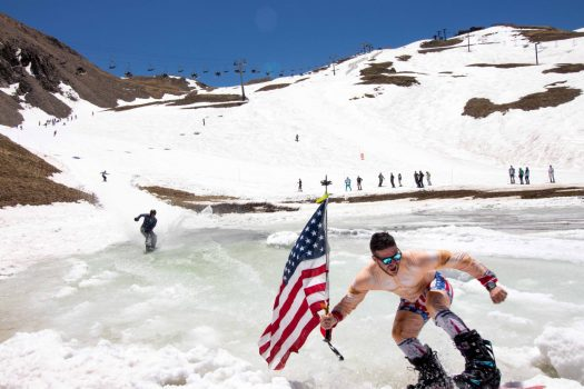 Pond Skimming at the end of the season at Arapahoe Basin. Photo: Ashey Ojala. Arapahoe Basin. A-Basin quits the Epic Pass cash cow due to their lack of parking.