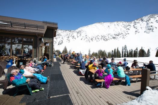 Arapahoe Basin April 27, 2018 -. Black Mountain Lodge - Photo: Dave Camara. Arapahoe Basin. A-Basin quits the Epic Pass cash cow due to their lack of parking.