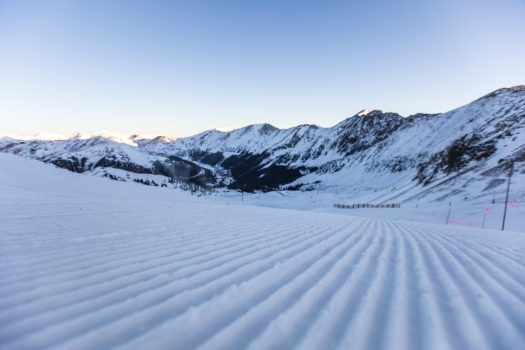 A groomed run - Grizzly Road - Photo: Dave Camara. Arapahoe Basin. Arapahoe Basin is now part of the IKON Pass.