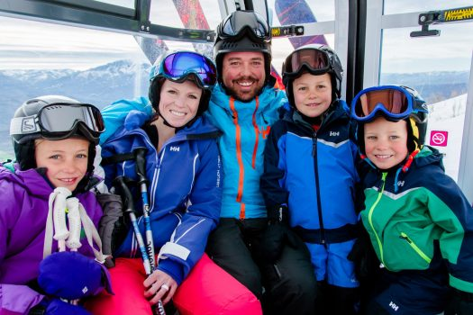 Family skiing at Snowbasin- Photo credit: Snowbasin Ski Resort. Snowbasin's full mountain. Photo: Snowbasin Mountain Resort. Sun Valley and Snowbasin Join the Epic Pass.