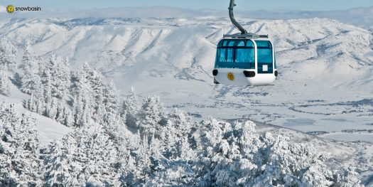 Needles Gondola in Snowbasin. Photo: Snowbasin Mountain Resort. Sun Valley and Snowbasin Join the Epic Pass.