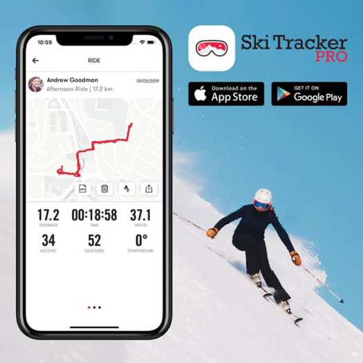 Follow Your Tracks with Ski Tracker PRO