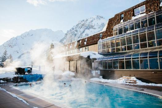 Exterior pool at the Alta Peruvian lodge. The Most Expensive Ski Resorts in the USA.