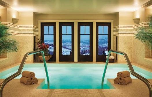 Part of the spa with a view at the Montage Deer Valley. Stay at the Montage Deer Valley. The Most Expensive Ski Resorts in the USA.
