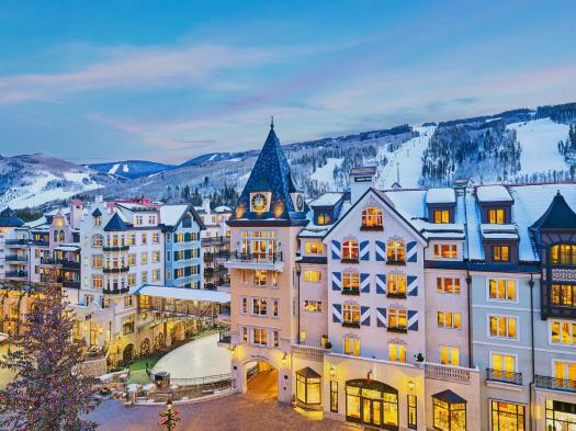 The exterior of the Arrabelle at Vail Square. The Most Expensive Ski Resorts in the USA.