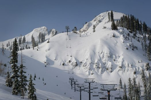 Early Morning KT-22 Bluebird powder day at Squaw Valley USA. Alterra Mountain Company Announces $181 Million in Capital Improvements for the 2019/2020 Winter Season.