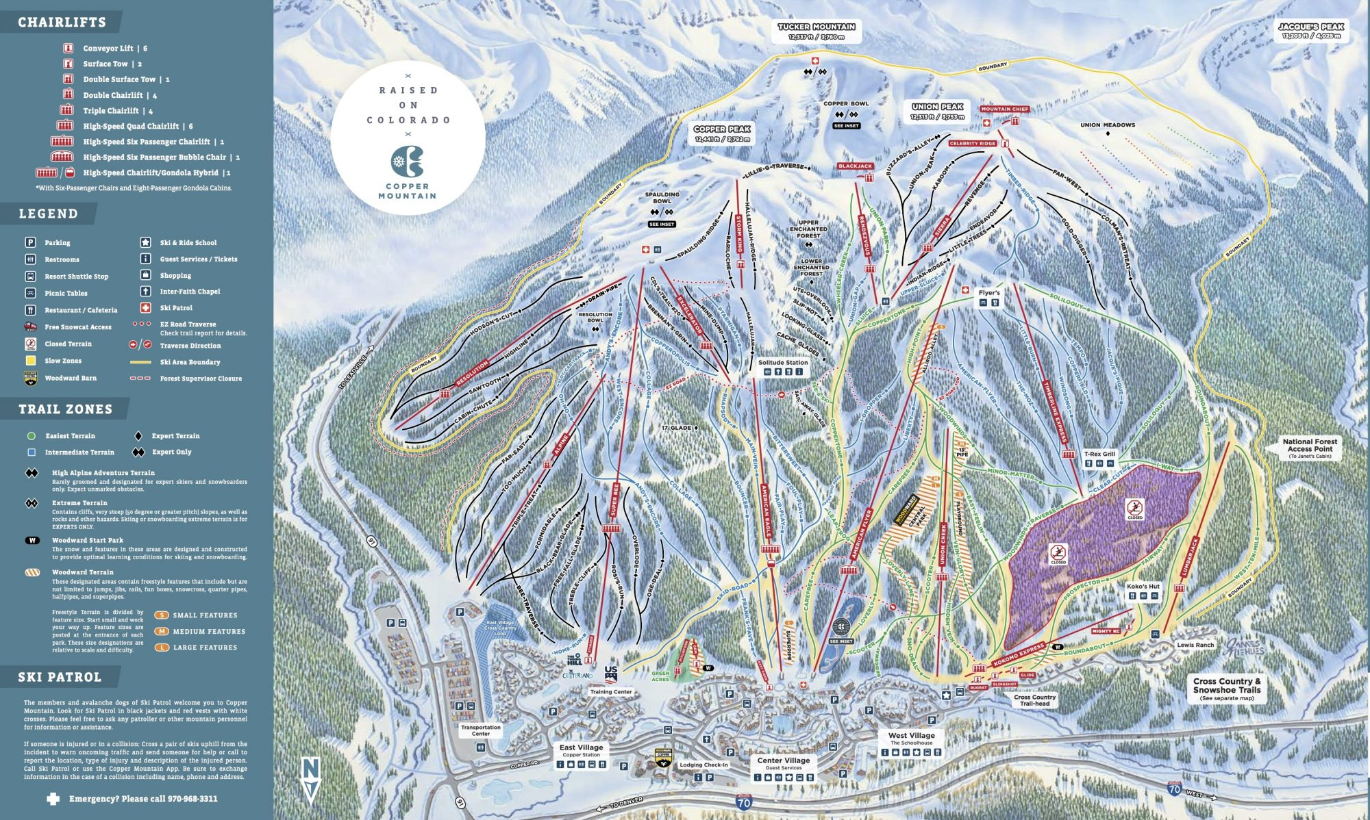 Copper Mountain ski map. Copper Mountain News and recap of the season by GM and President Dustin Lyman.