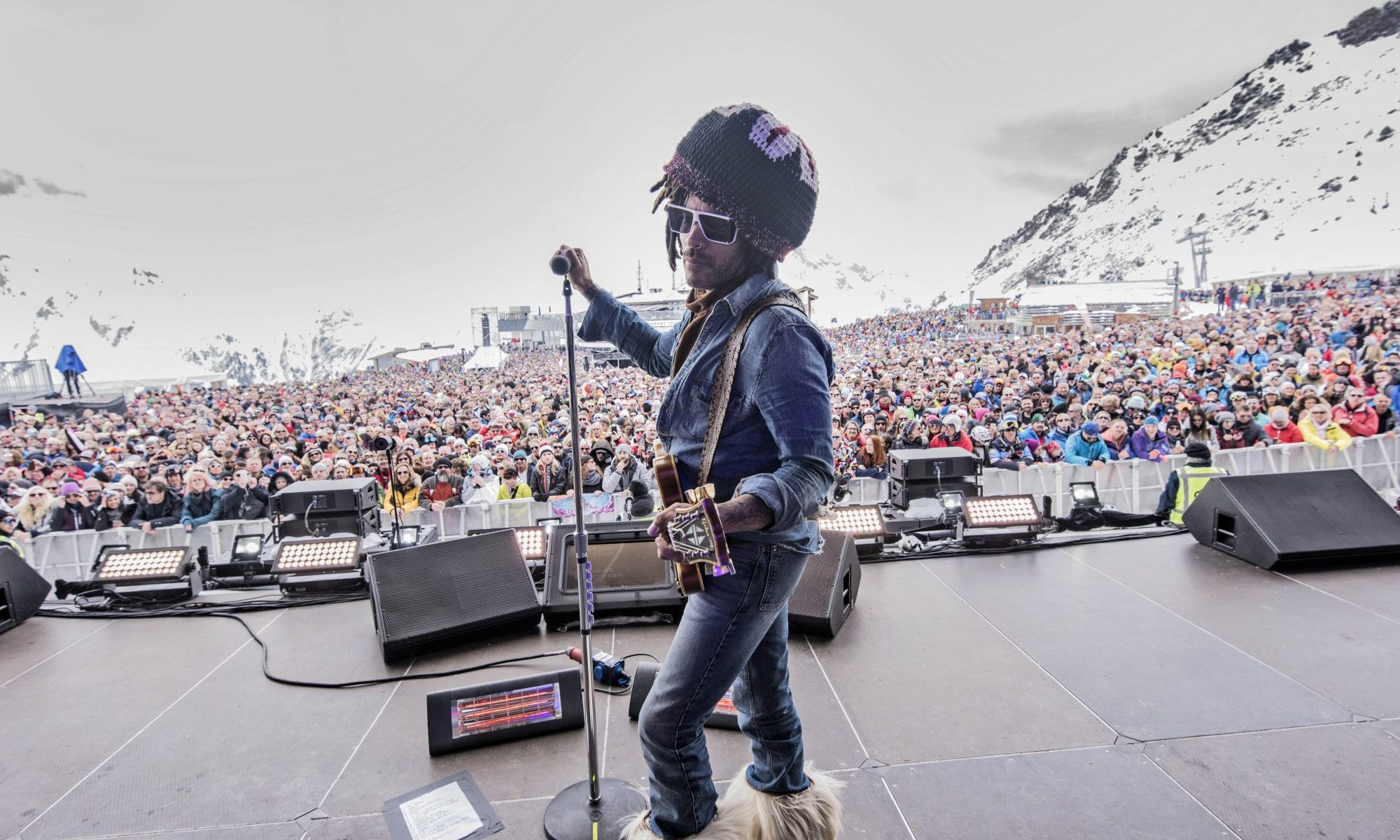Lenny Kravitz closes the ski season at Ischgl. Photo: TVB Paznaun Ischgl. Ischgl rocked with Lenny Kravitz for their season finale.