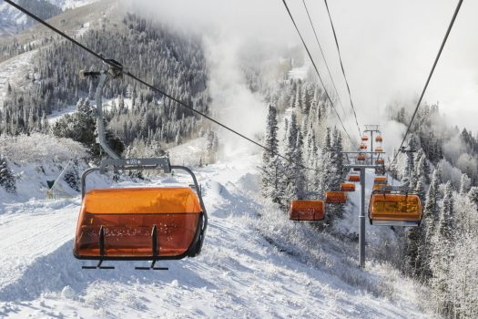 Park City orange bubble. photo: Vail Resorts. Park City skiing - photo: Scott Markewitz. Vail Resorts. Park City Town. Vail Resorts Announces Pending Sale of Park City Mountain Base Area Site for Mixed-Use Project Development.