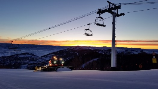 Park City grooming cats. Photo: Vail Resorts. Park City Mountain Announces Plans to Install New Lift for 2019-20 SEASON.