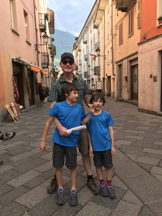 A quick walk through Aosta downtown to get a nice 'gelato'. Our family hike in Pila during the past summer holiday