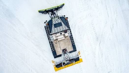 World First 0% Emissions Snow Groomer Was Launched by PistenBully. Photo: PistenBully.