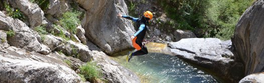 Canyoning in the Alps. Photo: Undiscovered Mountains. The Southern French Alps are the Best Part of the French Alps for Summer Activities.
