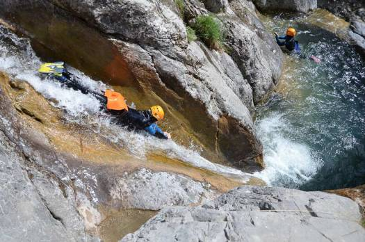 Canyoning in the French Alps. Photo: Undiscovered Mountains. The Southern French Alps are the Best Part of the French Alps for Summer Activities.