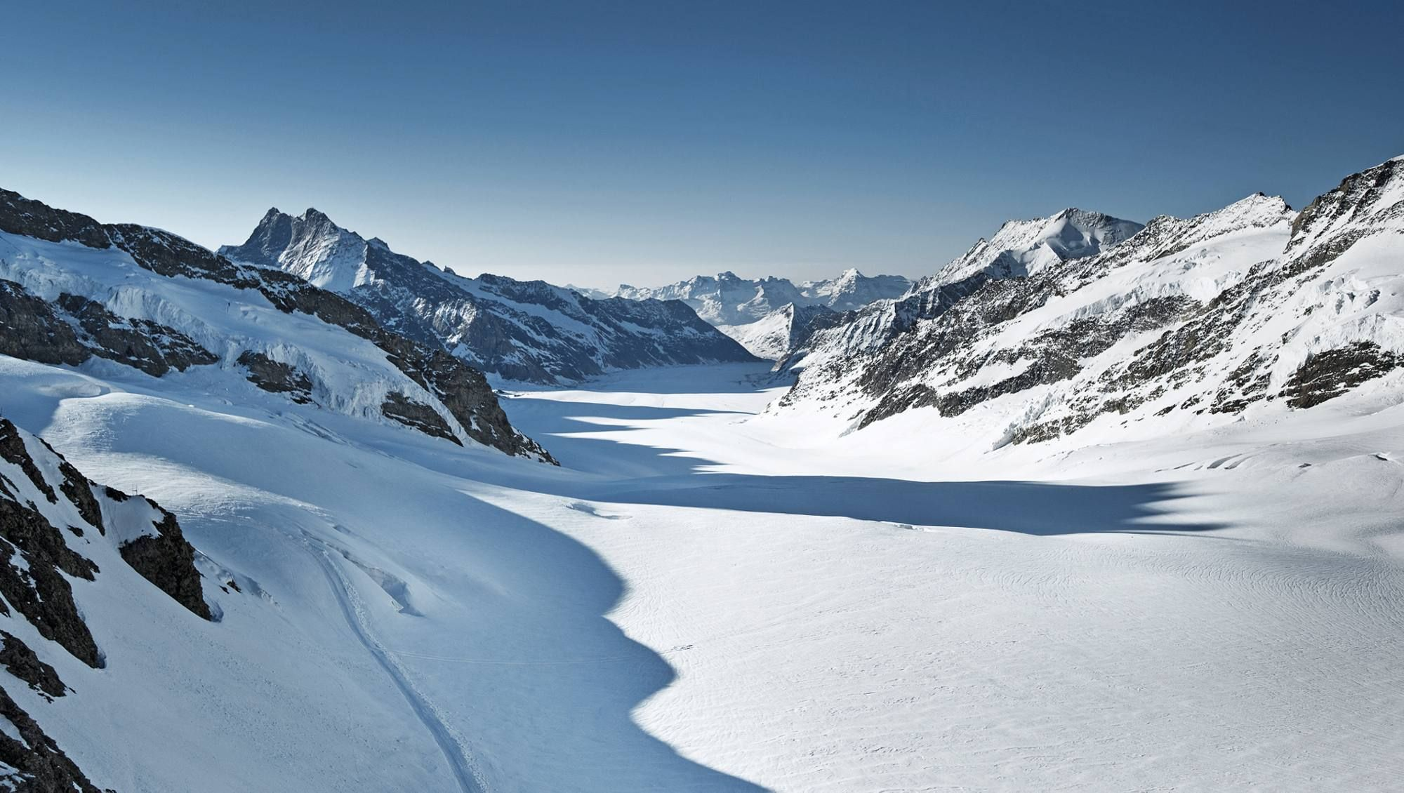 Jungfraujoch- Top of Europe. The new V-Cableway will bring you to your destination up to 47 minutes faster.
