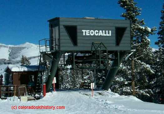 The old Teocalli lift base- photo: Coloradoskihistory.com - Crested Butte's Teocalli Lift Replacement Approved by U.S. Forest Service.