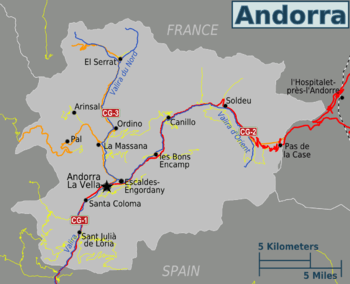 April 2020 for the possible implementation of the GPS system at the Andorra-La Seu airport.Map of Andorra. The EFA claims that the failure of the GPS makes an airport essential in the country.