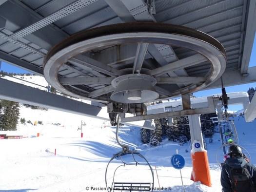 Motor of the TSF3. New lifts and piste for Portes du Soleil for the 2019-20 ski season. Avoriaz Passion Portes du Soleil. Photo Christophe B.