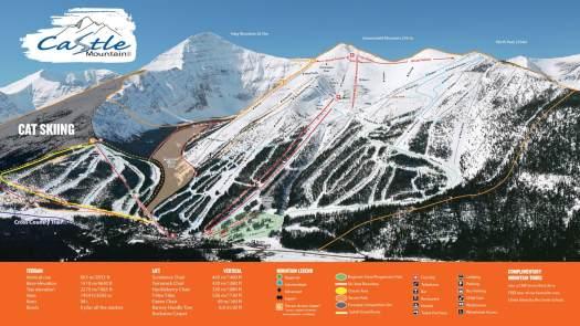 Castle Mountain Resort ski map. $2 Million in Upgrades for Castle Mountain Resort.