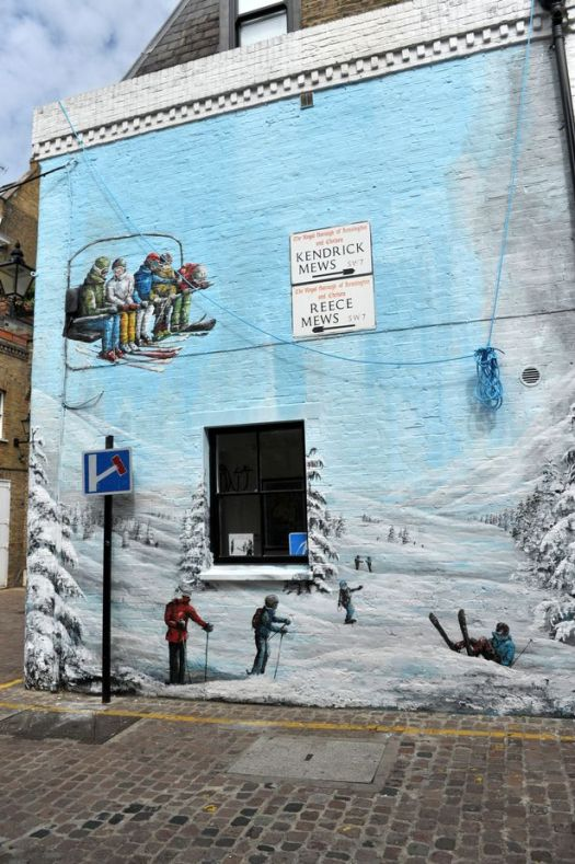Erna Low's famous mural in their South Kensington shop. Ski specialist Erna Low sold for undisclosed sum.