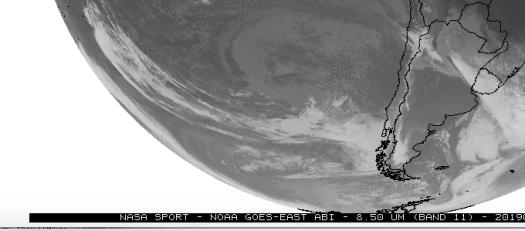 SnowForecast.com Screenshot of 25 June 2019. South America Long Range Forecast by SnowForecast.com.