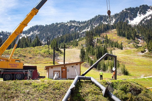 Stevens Pass Daisy A-Frame. Photo: Vail Resorts. Summer Works at Stevens Pass to get a better skiers' and boarders flow.