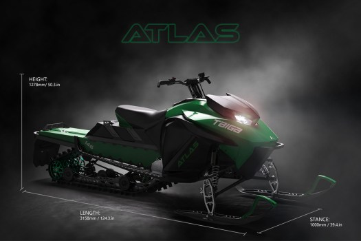 Taiga Atlas snowmobile. Photo: Taiga Motors.  Aspen Skiing Company Announces New Partnership with Taiga Motors